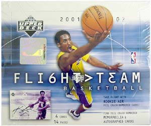 2001-2002 Upper Deck Flight Team Basketball Hobby Box 