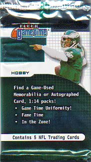 2001 Fleer Game Time Football Hobby Pack Special Price!