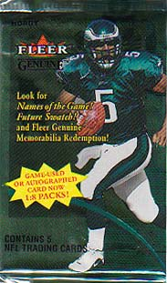2001 Fleer Genuine Football Hobby Pack Special Price!