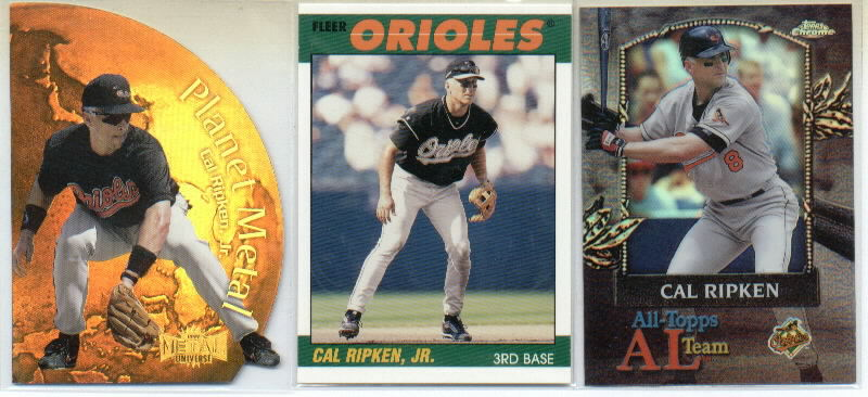 2000 Topps Chrome All-Topps Refractors #AT15 Cal Ripken front image