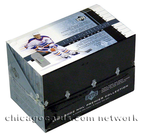 2001-02 (2002) Upper Deck Premier Collection Hockey Hobby Box, Factory Sealed 