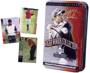 2001 Upper Deck Collectibles Tiger Woods Collection Golf Tin Set, Factory-Sealed