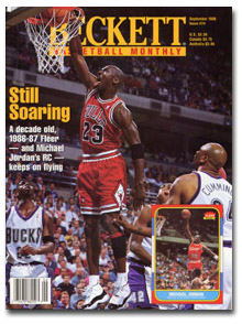 Beckett Basketball, 9/96, MJ Dunking over Bucks