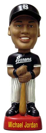 Michael Jordan Birmingham Barons Baseball Collectible Bobble Head Doll  front image