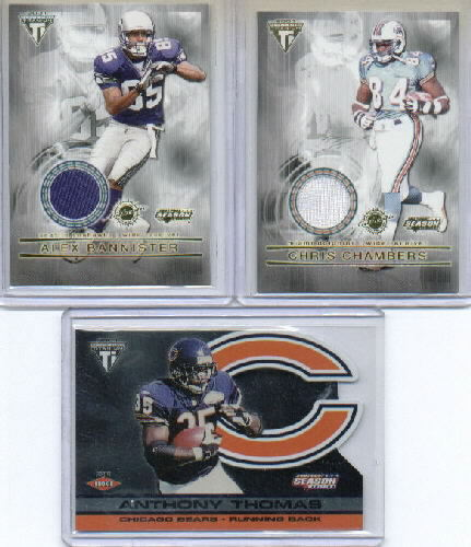 2001 Titanium Post Season #17 Anthony Thomas RC