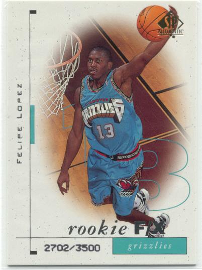 1998/99 Upper Deck Sp Authentic Felipe Lopez Rookie