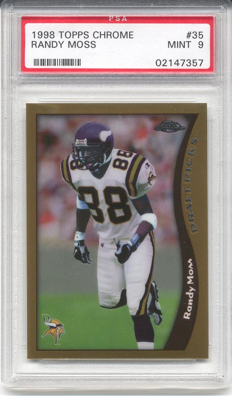 1998 Topps Chrome Randy Moss Rookie (PSA 9)