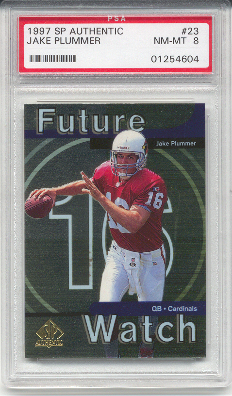 1997 Upper Deck SP Authentic Jake Plummer Rookie (PSA 8)
