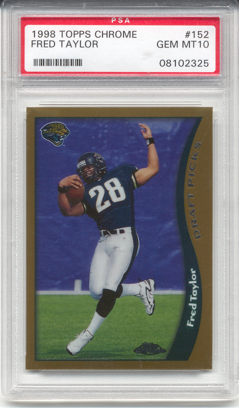 1998 Topps Chrome Fred Taylor Rookie (PSA 10)