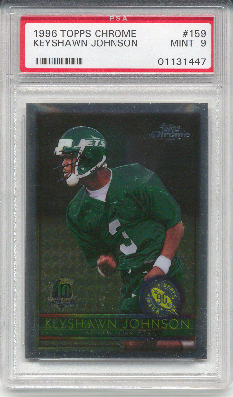 1996 Topps Chrome Keyshawn Johnson Rookie (PSA 9)