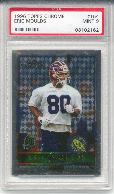 1996 Topps Chrome Eric Moulds Rookie (PSA 9)
