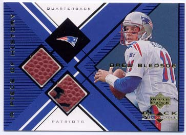 1999 Black Diamond A Piece of History Double #DBL Drew Bledsoe H