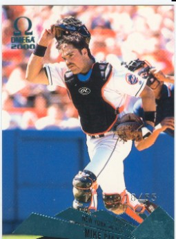 2000 Pacific Omega Platinum Blue #91 Mike Piazza