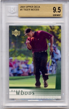 Tiger Woods 2001 Upper Deck Golf BGS Grade 9.5 Gem Mint