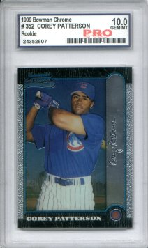 1999 Bowman Chrome #352 Corey Patterson RC Graded Gem Mint 10