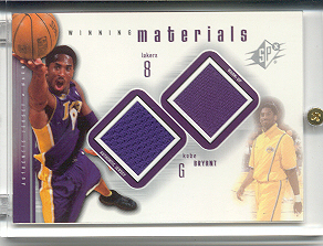 2000-01 SPx Winning Materials #KB1 Kobe Bryant JSY/WM