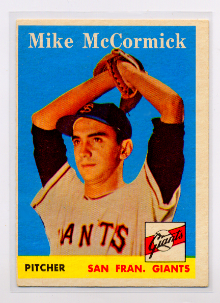 1958 Topps #37 Mike McCormick RC/UER Photo actually/Ray Monzant