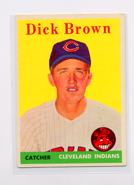 1958 Topps #456 Dick Brown RC