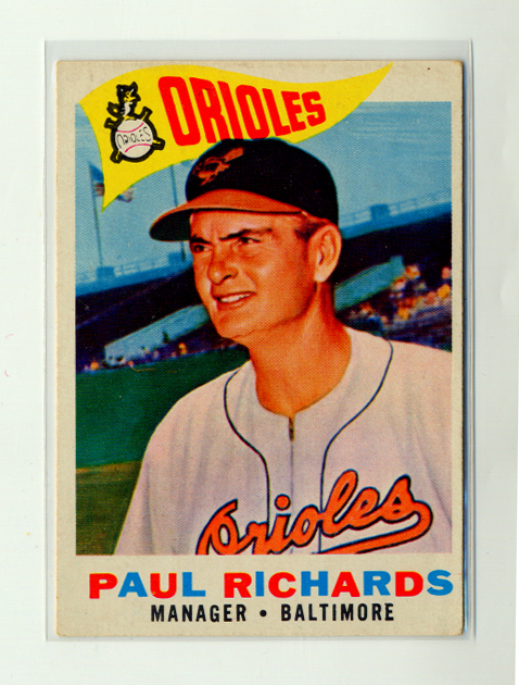 1960 Topps #224 Paul Richards MG