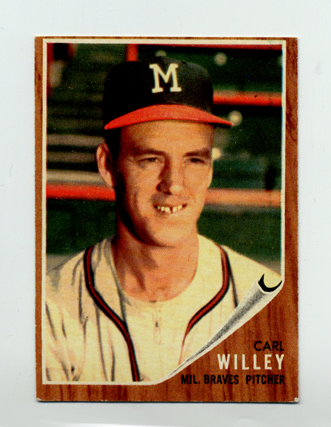 1962 Topps #174B Carl Willey with Cap