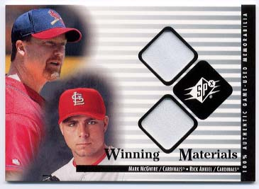 2000 SPx Winning Materials Update #MMRA M.McGwire/R.Ankiel