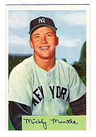 1954 Bowman #65 Mickey Mantle front image