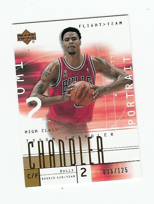 2001-02 Upper Deck Flight Team Copper #130 Tyson Chandler