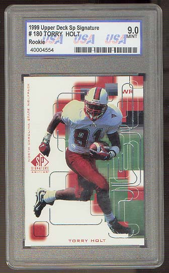 1999 SP Signature #180 Torry Holt USA 9 (Mint)