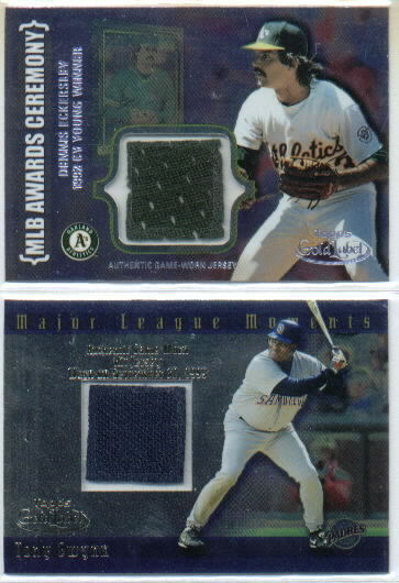 2002 Topps Gold Label Major League Moments Relics Titanium #TG Tony Gwynn Jsy front image