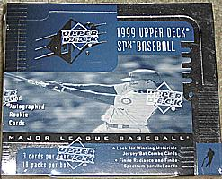 1999 Upper Deck SPx hobby-only factory-sealed baseball box