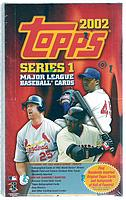 2002 Topps Series 1 factory-sealed HOBBY baseball box