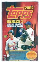 2002 Topps Series 1 ( one ) factory-sealed HTA jumbos baseball box
