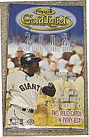 2002 Topps Gold Label factory-sealed baseball box