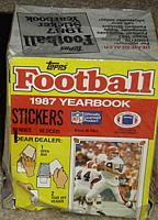 1987 Topps Stickers football box