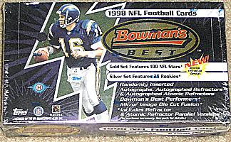 1998 Bowman's Best factory-sealed football box