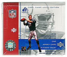 2001 Upper Deck SP Game-Used Edition factory-sealed football box
