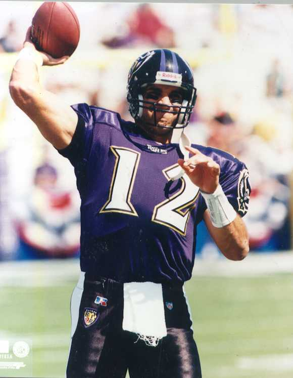 Jets Vinny Testaverde 8 x 10 color Ravens photo