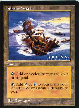 Magic the gathering jumbo Adarkar Wastes Arena card