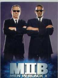 Will Smith Tommy Lee Jones Men In Black II  promo card + ad sheet