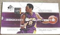 2000-01 SP Authentic factory-sealed basketball box