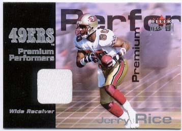 2001 Fleer Premium Performers Jerseys #16 Jerry Rice front image