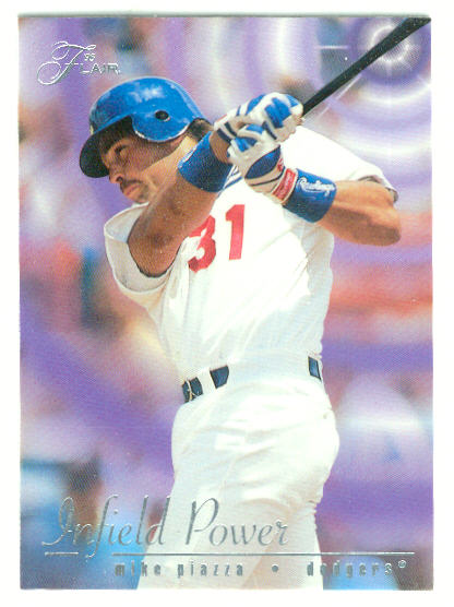 1995 Flair Infield Power #7 Mike Piazza
