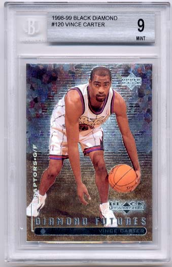 1998-99 Black Diamond Vince Carter BGS  9.0 RC