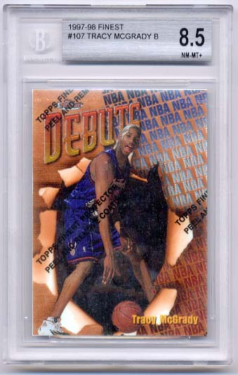 1997-98 Finest Tracy McGrady B BGS  8.5 RC