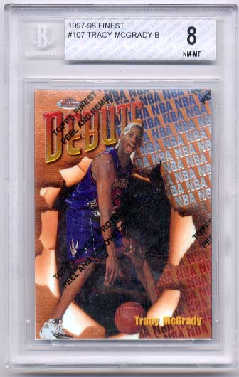 1997-98 Finest Tracy McGrady B BGS  8.0 RC