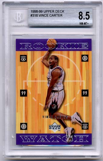 1998-99 Upper Deck Vince Carter BGS  8.5 RC