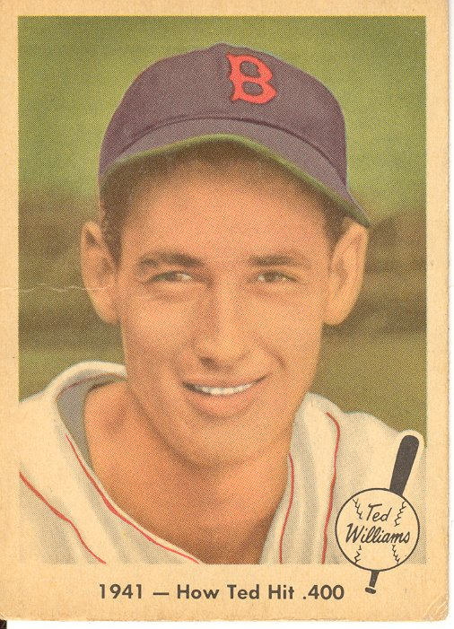 1959 Fleer Ted Williams #17 How Ted Hit .400 front image