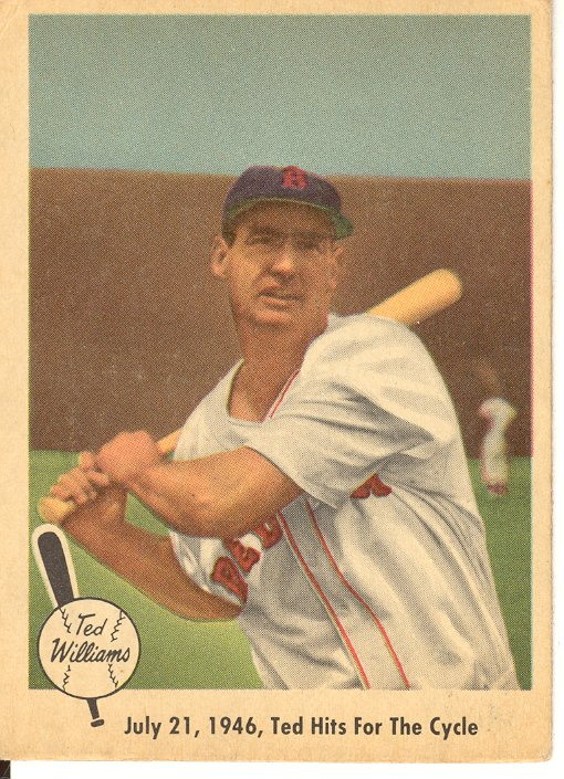 1959 Fleer Ted Williams #29 Ted Hits for Cycle