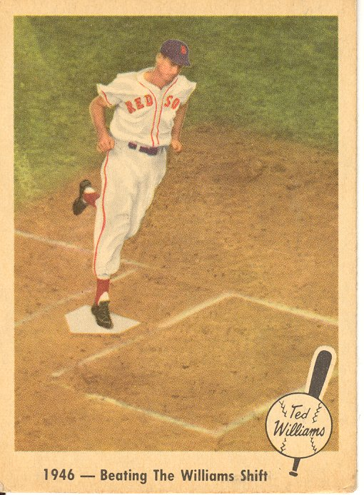 1959 Fleer Ted Williams #30 Beating Williams Shift front image