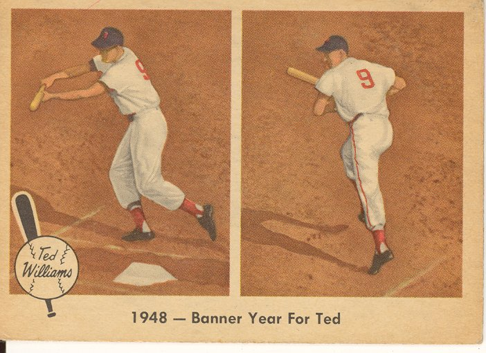 1959 Fleer Ted Williams #36 Banner Year for Ted